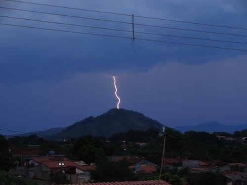 Lightning Strike at a Mountain