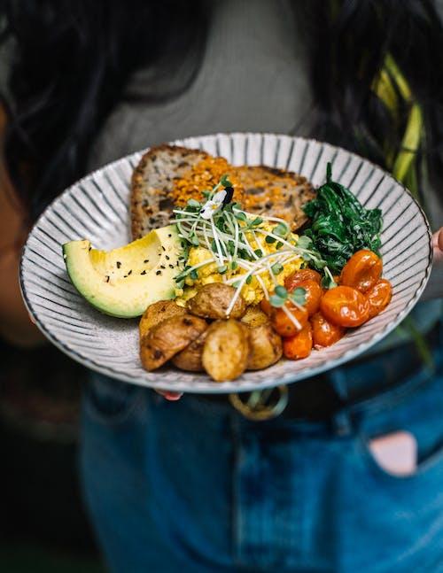 Food on Ceramic Plate