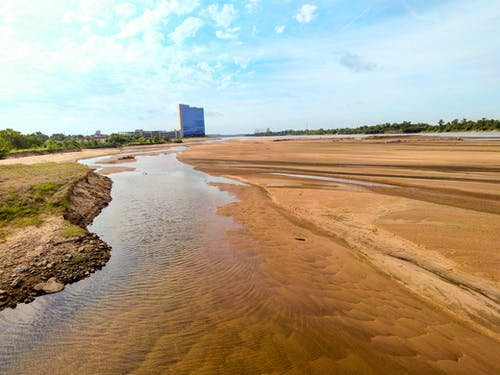 Fotobanka sbezplatnými fotkami na tému dron, drone cez rieku, oklahoma