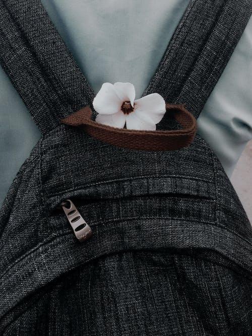 Black Knit Cap With White Ribbon