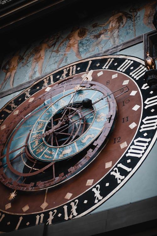 Black and Brown Analog Clock