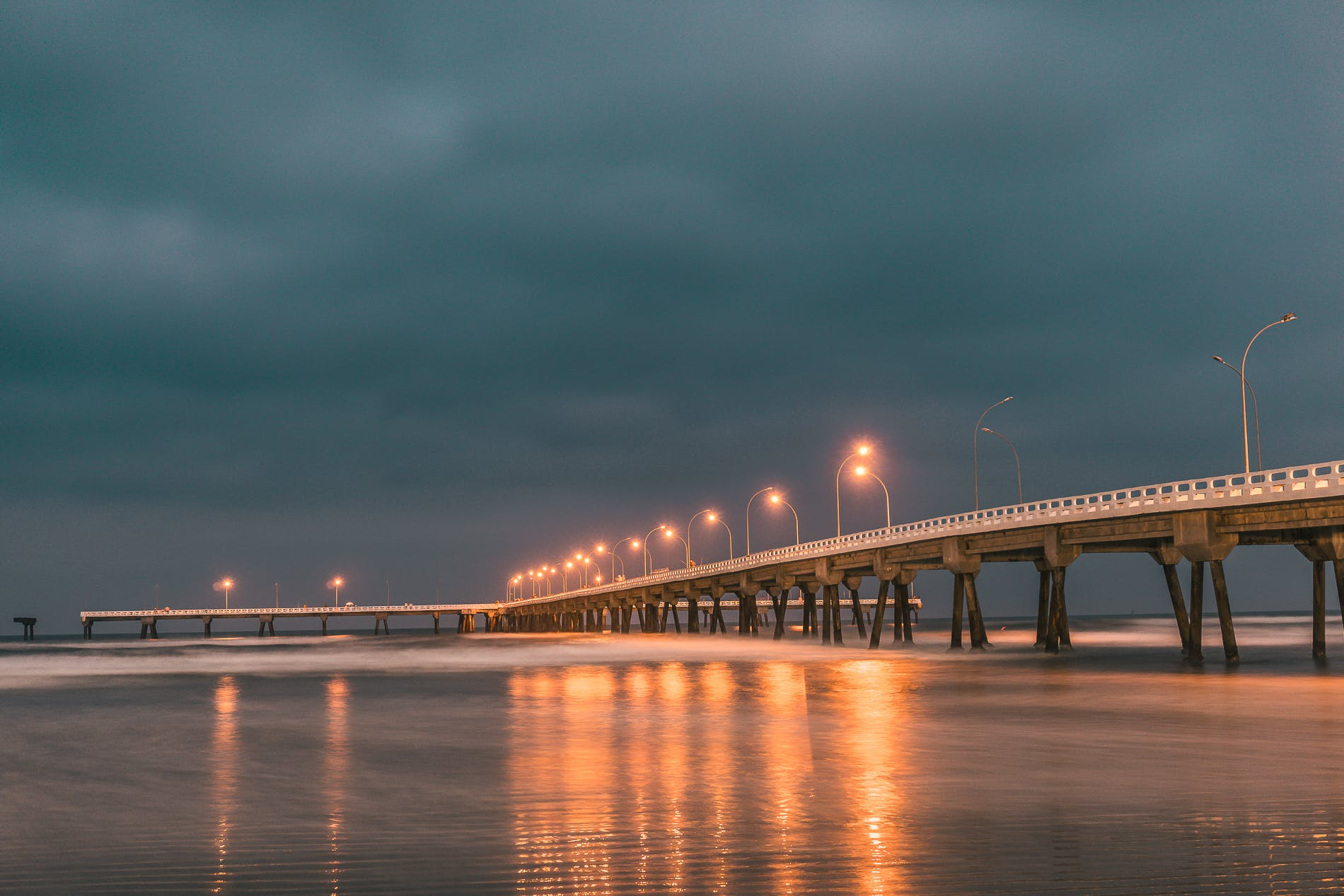 Bridge Under Cloudy Sky