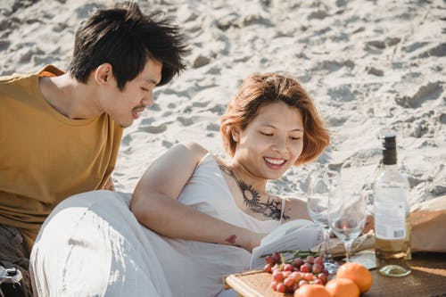 Man and Woman Out on a Picnic