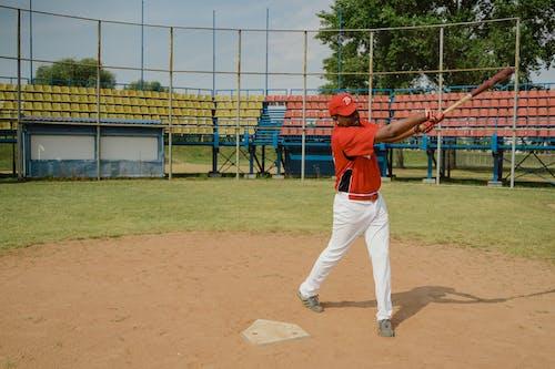 Man Swaying a Baseball Bat