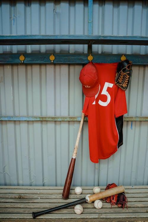 Baseball Jersey Hanging on a Wall