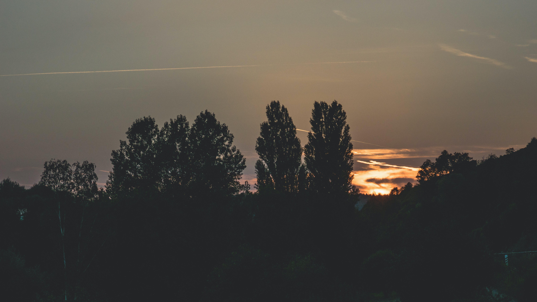 afterglow, backlit, clouds