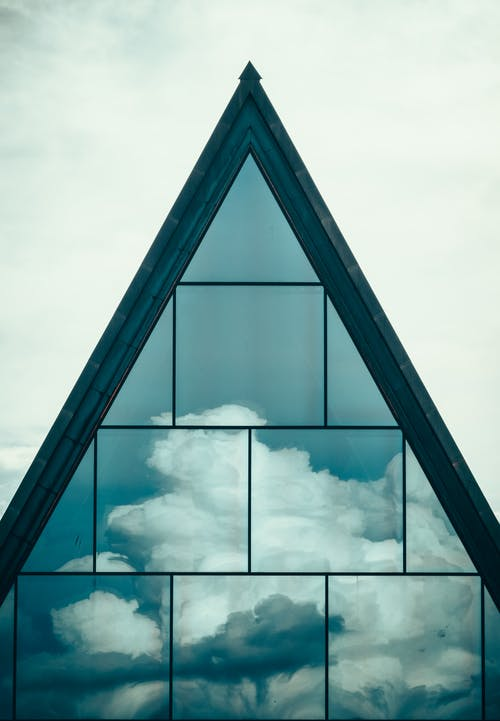 Blue and White Glass Building
