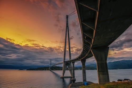 Photos gratuites de architecture, aube, bateau, coucher de soleil