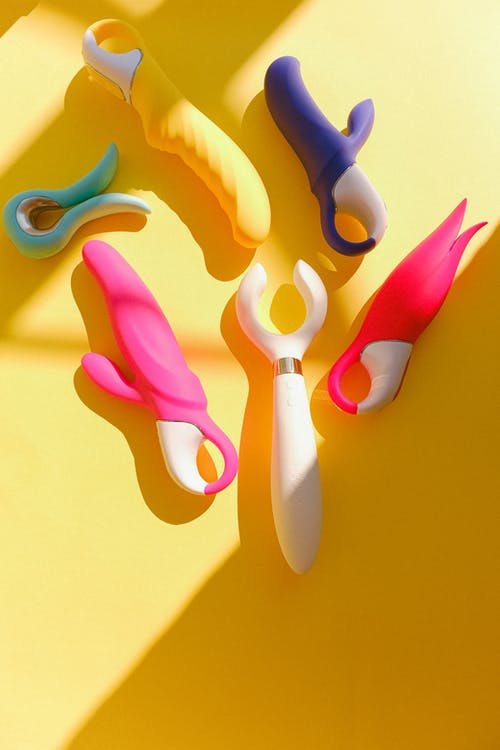 Sex Toys on a Yellow Background