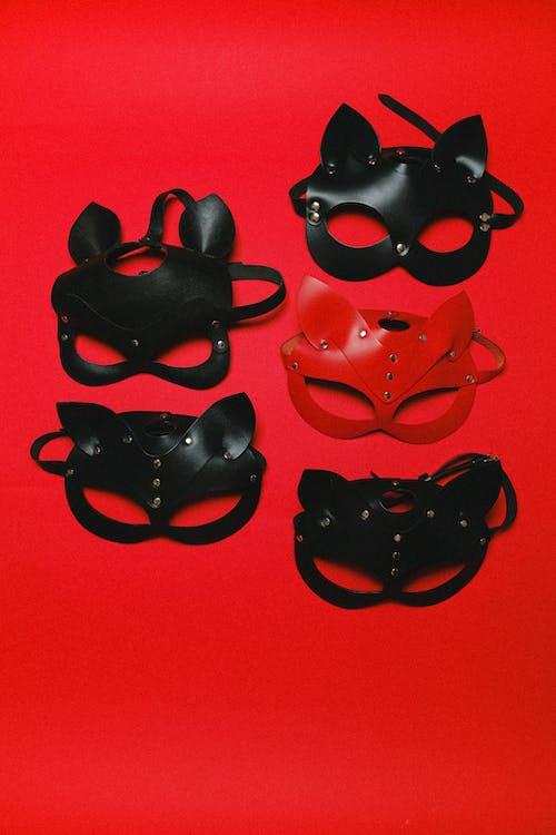 Leather Cat Masks