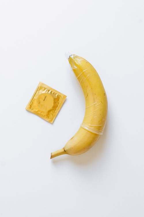 Condom on Yellow Banana