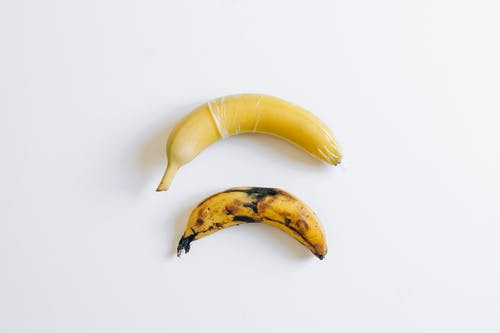 Bananas on White Surface
