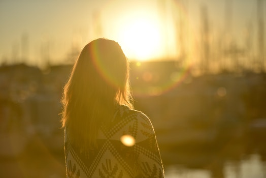 Free stock photo of dawn, sunset, person, woman