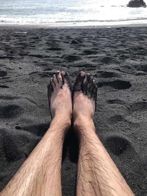 나체, 모래, 바다, 발의 무료 스톡 사진
