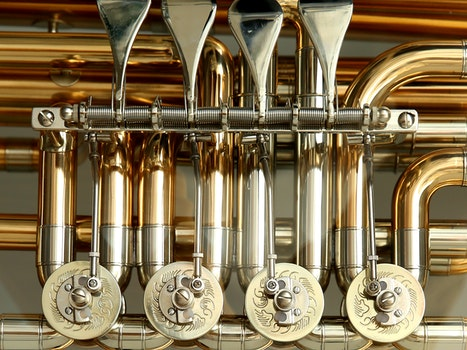 Silver Gold Musical Instrument
