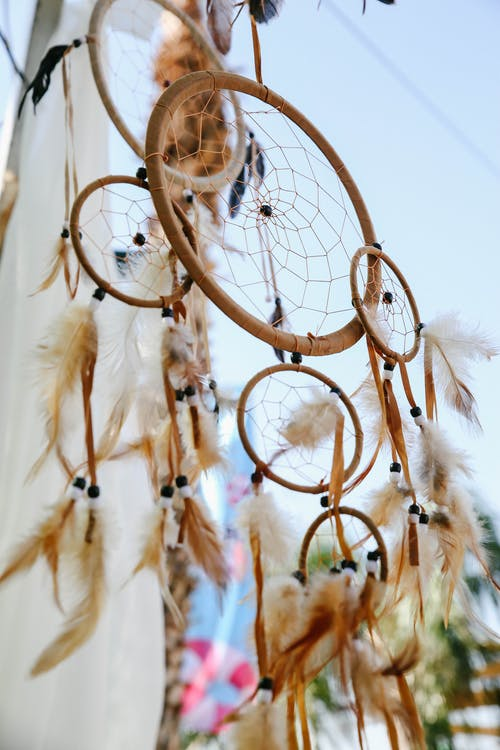 Low Angle Shot of Woven Dreamcatcher