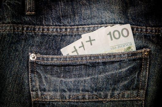 100 Banknote on Pocket