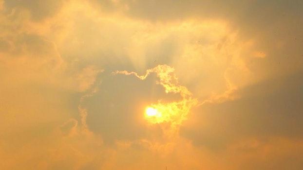 Free stock photo of sunset, clouds, orange, golden