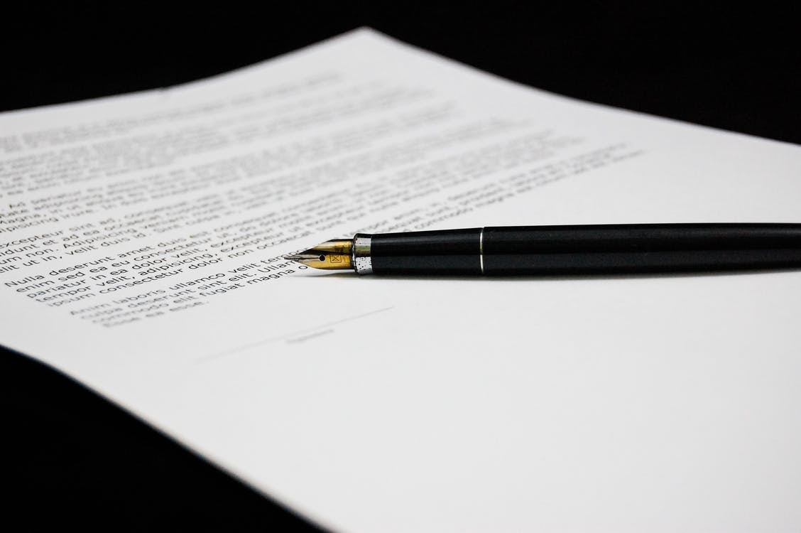 Free stock photo of document, pen, sign