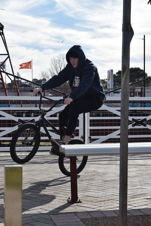 Free stock photo of Adelaide, bench, black, bmx