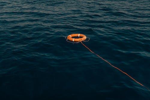 Orange Life Buoy on Body of Water