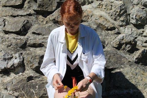 Woman Making a Flower Crown