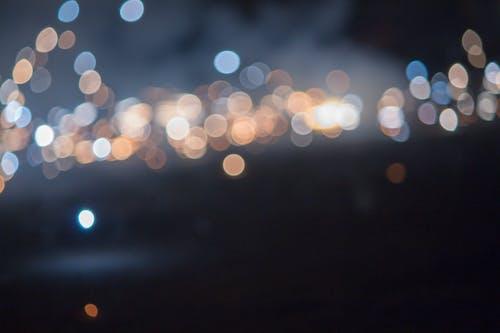 Free stock photo of back lights, black light, bokeh