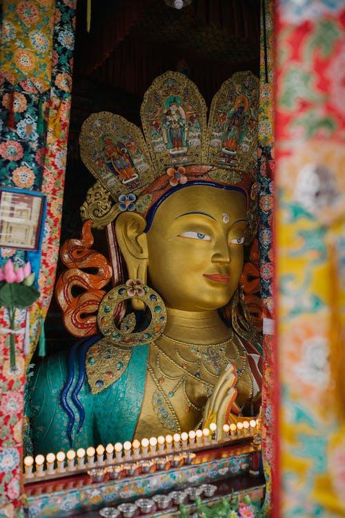 Golden ornamental sculpture in temple