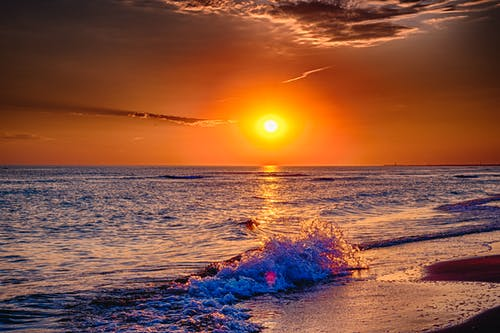 Free stock photo of above sea, beach sunset, beautiful sunset