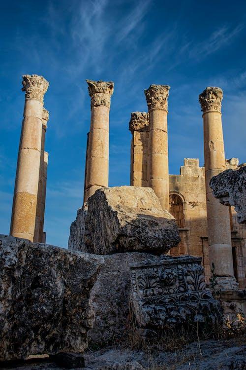 Ancient Roman Columns in Jordan