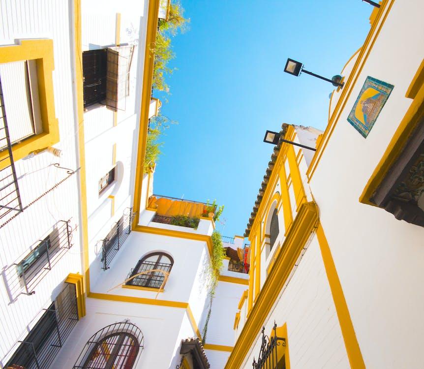 alb, arhitectură, clădiri