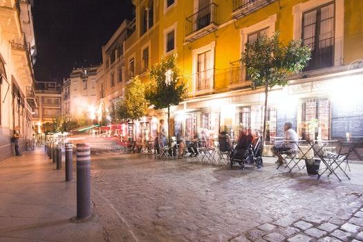 Free stock photo of city, restaurant, lights, night