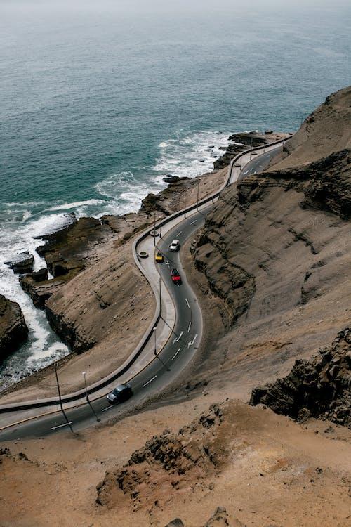 Fotobanka sbezplatnými fotkami na tému auto, breh, búrlivý, cesta