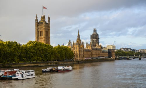 The Palace of Westminster near the River Thames