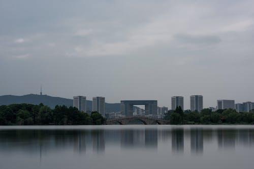 Body of Water Near City Buildings