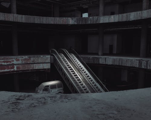 Escalator in Abandoned Building