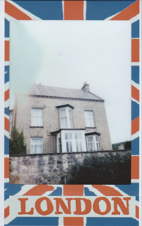 Polaroidowe Zdjęcie Domu