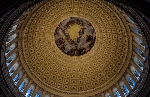 Dome with fresco of Capitol Building