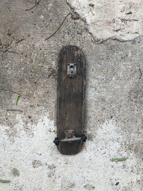 Brown Wooden Tree Trunk on Gray Concrete Floor