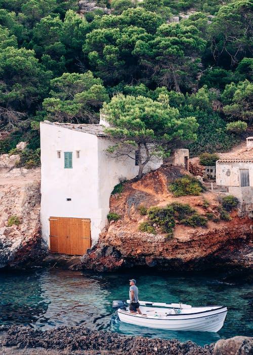 スペイン, ベイ, ボート, 家の無料の写真素材