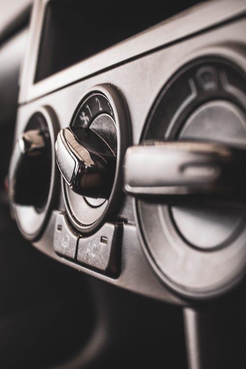 Black and Silver Car Door Lever
