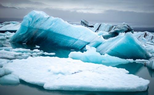 คลังภาพถ่ายฟรี ของ jökulsárlón, กลางแจ้ง, ทะเล