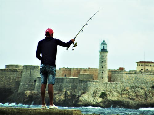 Free stock photo of fisherman, fortress, seawater