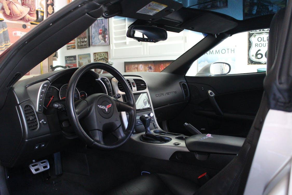 Free stock photo of car, corvette, interior