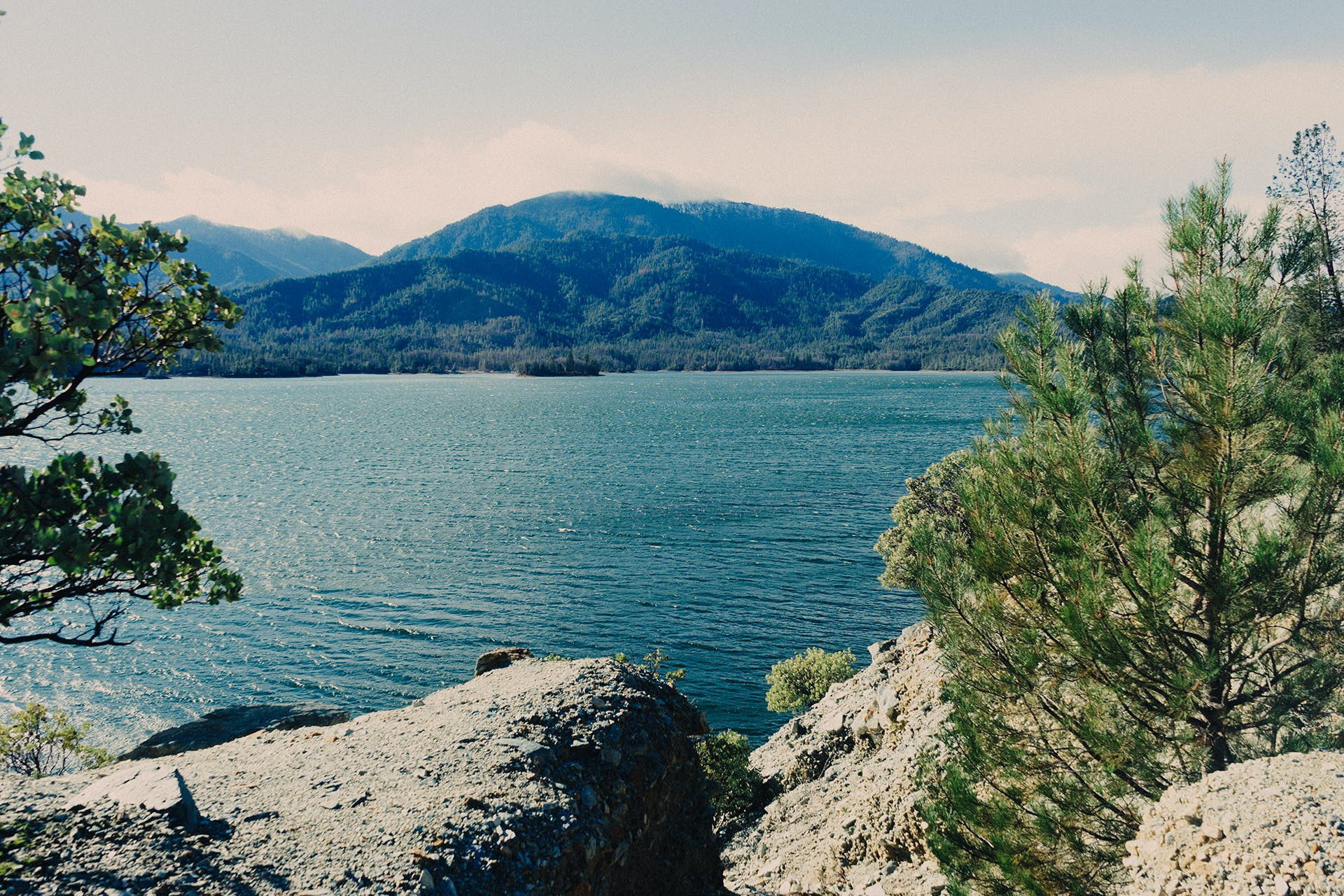 Body of Water and Mountain Photography
