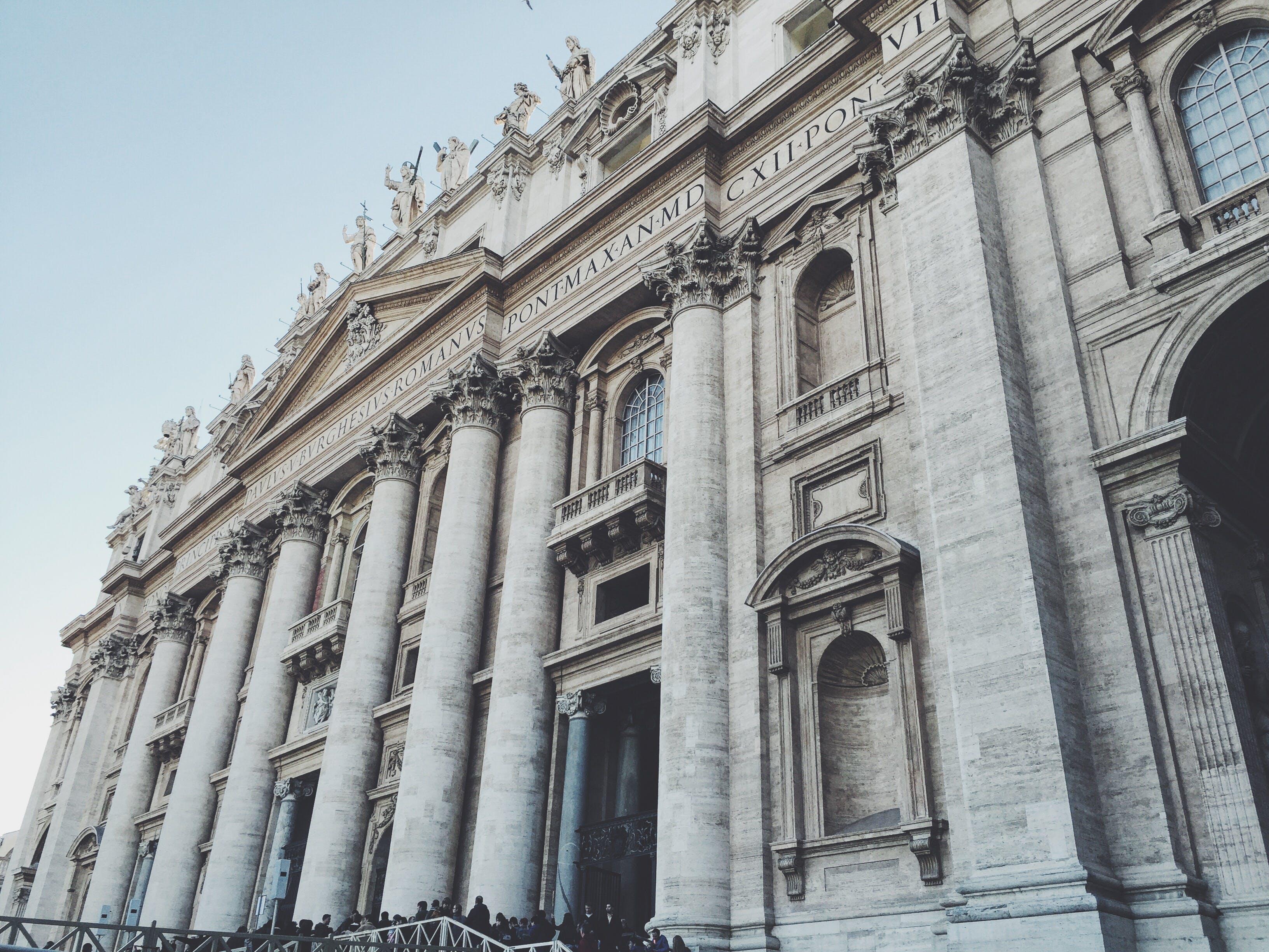 architektur, basilika, gebäude