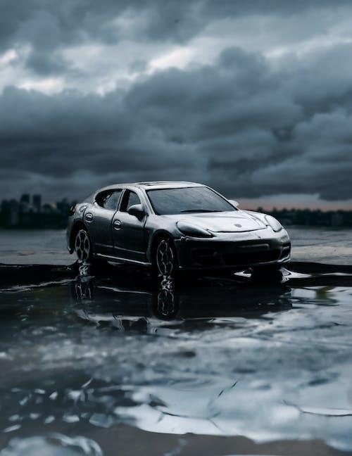 Free stock photo of car, landscape, rain