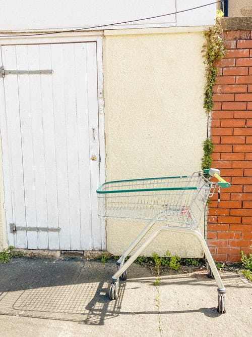Small shopping trolley on street