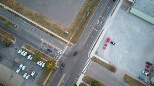 Aerial View of an Intersection