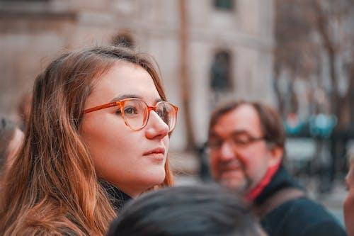 A Woman Wearing an Eyeglass